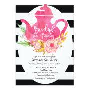 Watercolor Bridal Shower Tea Party