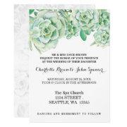 Watercolor Celadon Succulent Wedding