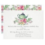 Watercolor Floral Bridal Tea Party Invitations