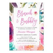 Watercolor Floral Brunch And Bubbly Bridal Shower