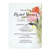 Watercolor Flowers Bridal Shower
