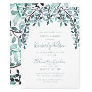 Watercolor Leaves Botanical Bridal Shower