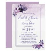 Watercolor Mauve Floral Spring Bridal Shower