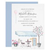 Watercolor Paris Themed Bridal Shower