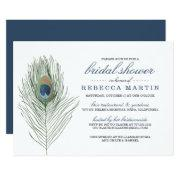 Watercolor Peacock Feather Bridal Shower