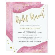 Watercolor Pink And Gold Geode Bridal Brunch