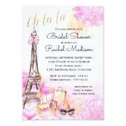 Watercolor Pink Parisian Bridal Shower