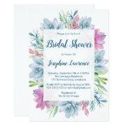 Watercolor Succulents Bridal Shower