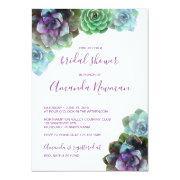 Watercolor Succulents | Bridal Shower