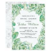 Watercolor Succulents Bridal Shower Invite
