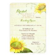 Watercolor Sunflowers Swirly Bridal Shower