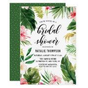 Watercolor Tropical Floral Frame Bridal Shower