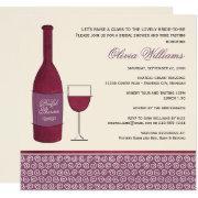 Wedding Bridal Shower  | Red Wine