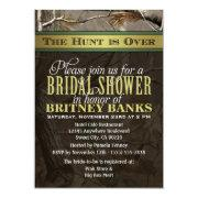 Wedding Hunting Camo Bridal Shower Invitations