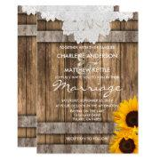 Wedding In A Rustic Wood And Lace