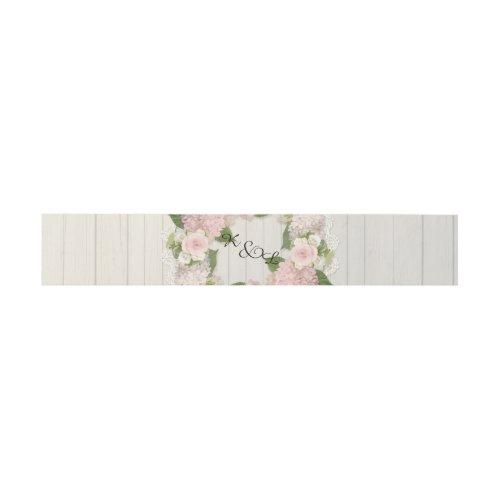 Wedding Monogrammed Wooden Rustic Country Floral Invitation Belly Band