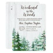 Weekend In The Woods Bachelorette Invitation