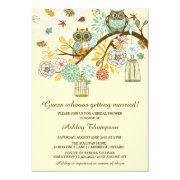 Whimsical Autumn Owls Bridal Shower