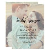Whimsical Calligraphy | Faded Photo Bridal Shower Invitations