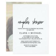 Whimsical Calligraphy   Photo Back Couples Shower Invitation