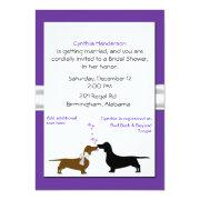 Whimsical Dachshunds Bridal Shower Invitation