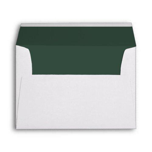 White Envelope, Pine Green Lined Envelope