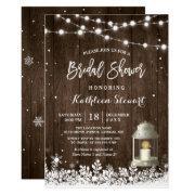 White Lantern String Lights Winter Bridal Shower