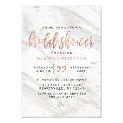 White Marble & Rose Gold Bridal Shower