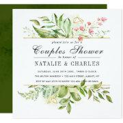 Wild Floral Green Foliage Wedding Couples Shower