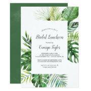 Wild Tropical Palm Bridal Luncheon Invitation