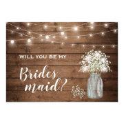 Will You Be My Bridesmaid Bridal's Breath Mason Jar