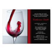 df7dc376273f Wine Glass Bridal Shower Invitations - Custom