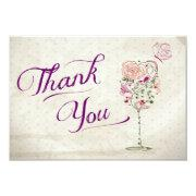 Wine Glass Thank You Note