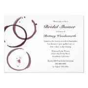 Wine Stain Vineyard Bridal Shower