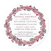 Winter Berry Bridal Shower