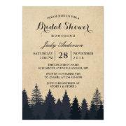 Winter Bridal Shower | Rustic Kraft Pine Trees