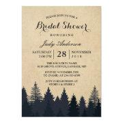 Winter Bridal Shower | Rustic Kraft Pine Trees