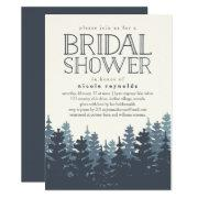 Winter Forest Rustic Bridal Shower