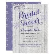 Winter bridal shower invitations funbridalshowerinvitations winter lavender purple bridal shower filmwisefo