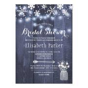 Winter Rustic String Lights Snow Bridal Shower