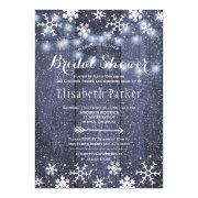 Winter Rustic String Lights Snowing Bridal Shower
