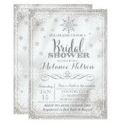 Winter Snowflake Bridal Shower Invitations
