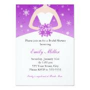 Winter Wonderland Bridal Shower Purple
