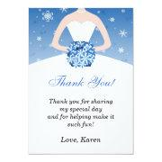 Winter Wonderland Thank You Card Announcements