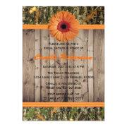 Wooden And Orange Daisy Bridal Shower