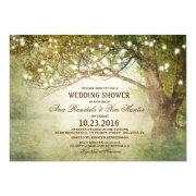 Woodland Outdoor String Lights Couples Shower