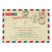World Traveler Airmail | Bridal Shower