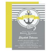 Yellow And Gray Nautical Bridal Shower