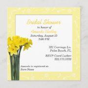 Yellow Daffodils Bridal Shower Invitation