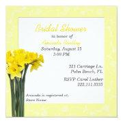 Yellow Daffodils Bridal Shower Invitations
